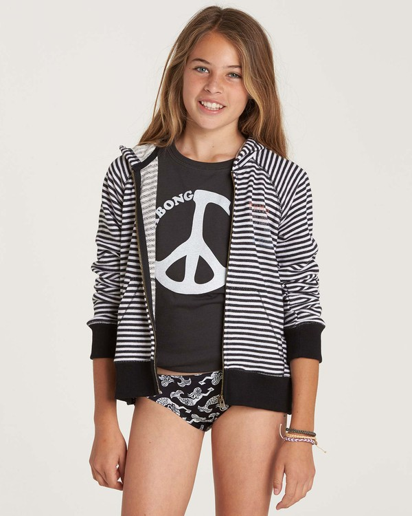 0 Girls' From The Sea Zip Up Hoodie Black G607NBFR Billabong