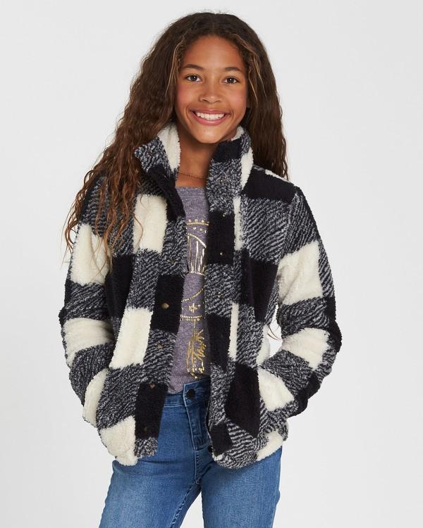 0 Girls' Artic Oasis Polar Fleece Jacket Black G607SBAR Billabong