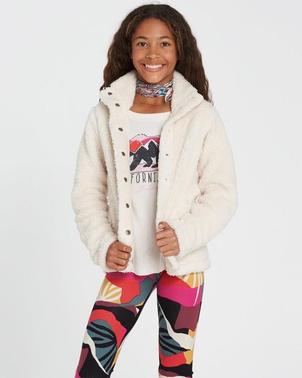0 Girls' Artic Oasis Polar Fleece Jacket White G607SBAR Billabong