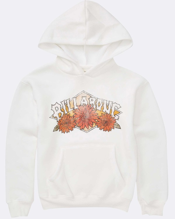 0 Girls' Wild Bloom Hoodie White G651TBWI Billabong