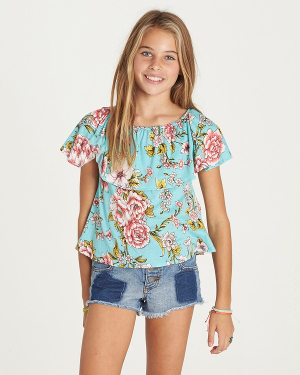 0 Girls' Better Sun Top Green G902LBET Billabong