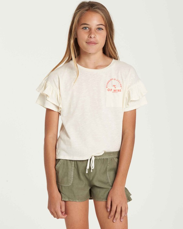0 Girls' Tee Time Pocket Tee Beige G902QBTE Billabong