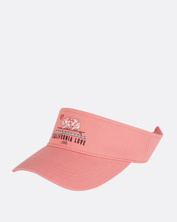 0 Girls' Peace Out Visor Pink GAHWNBPE Billabong