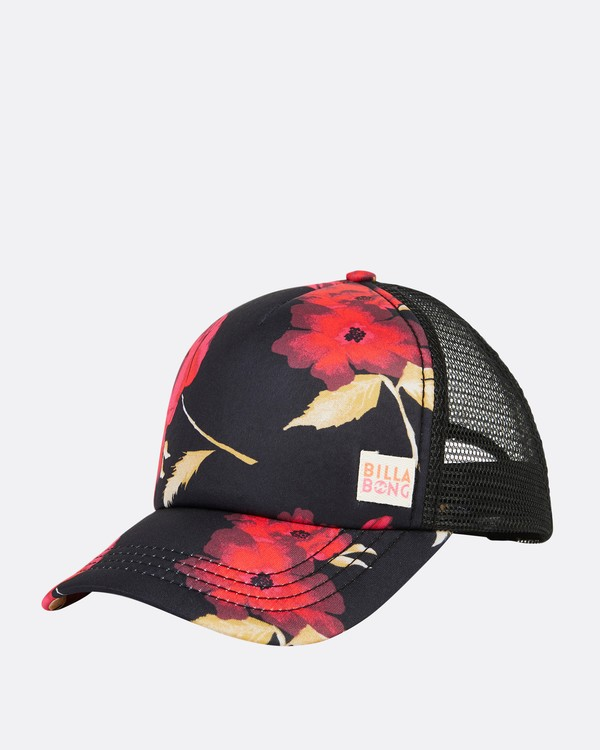 0 Girls' Shenanigans Trucker Hat Red GAHWQBSH Billabong