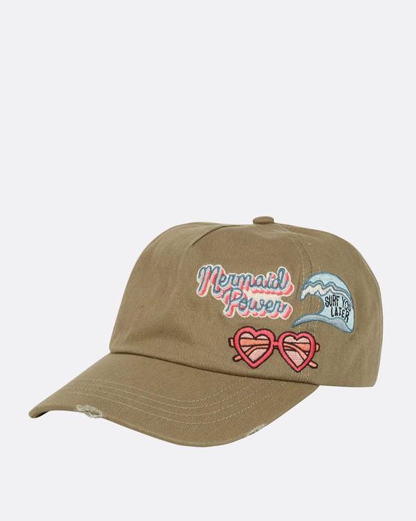 0 Girls' Surf Club Baseball Hat Green GAHWQBSU Billabong