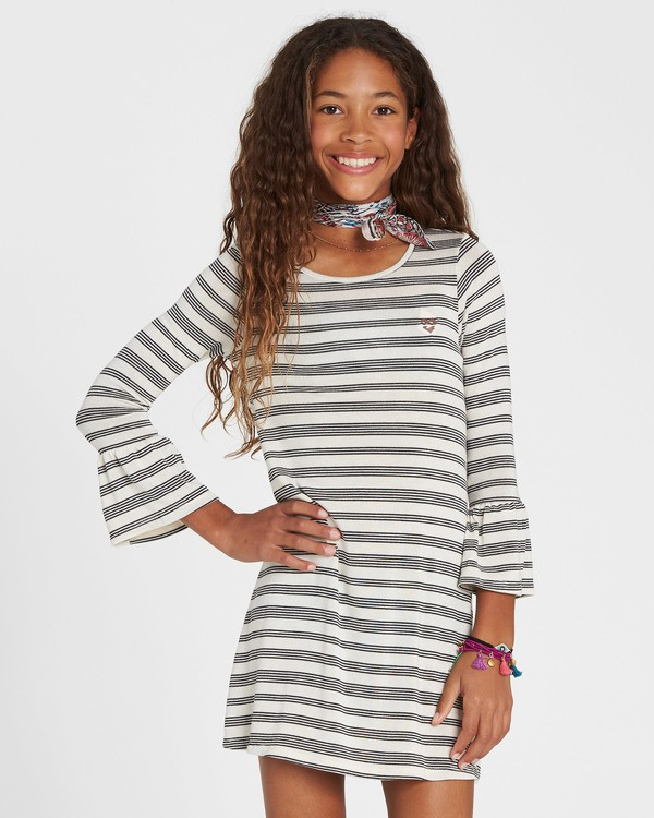 0 Girls' Daytime Dancing Striped Dress White GD01SBDA Billabong