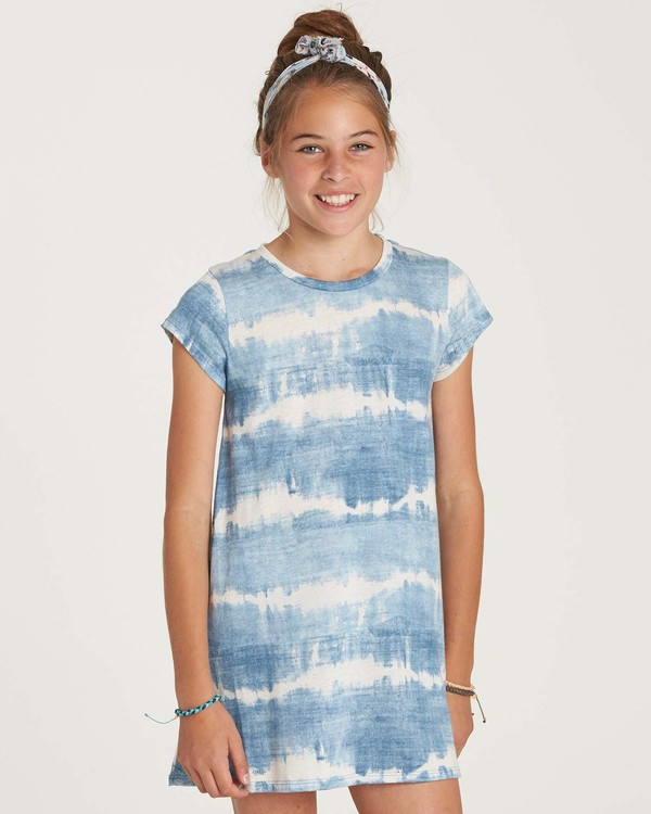 0 Girls' Stand Off Dress Blue GD02NBST Billabong