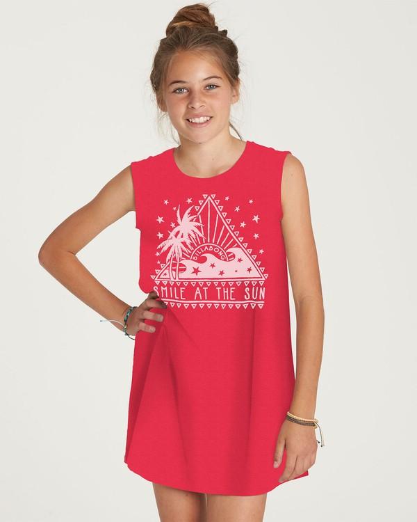 0 Girls' Sunstruck Days Dress Red GD05NBSU Billabong