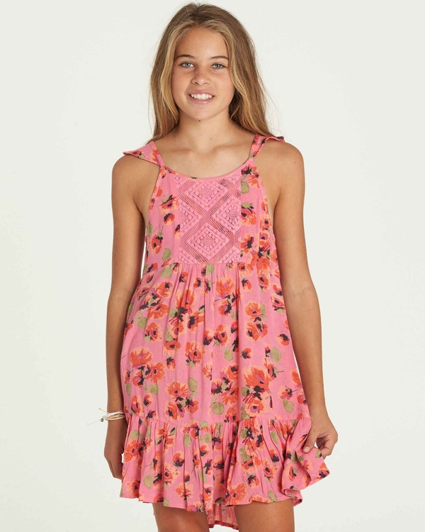 0 Girls' Sundazer Dress Pink GD05PBSU Billabong