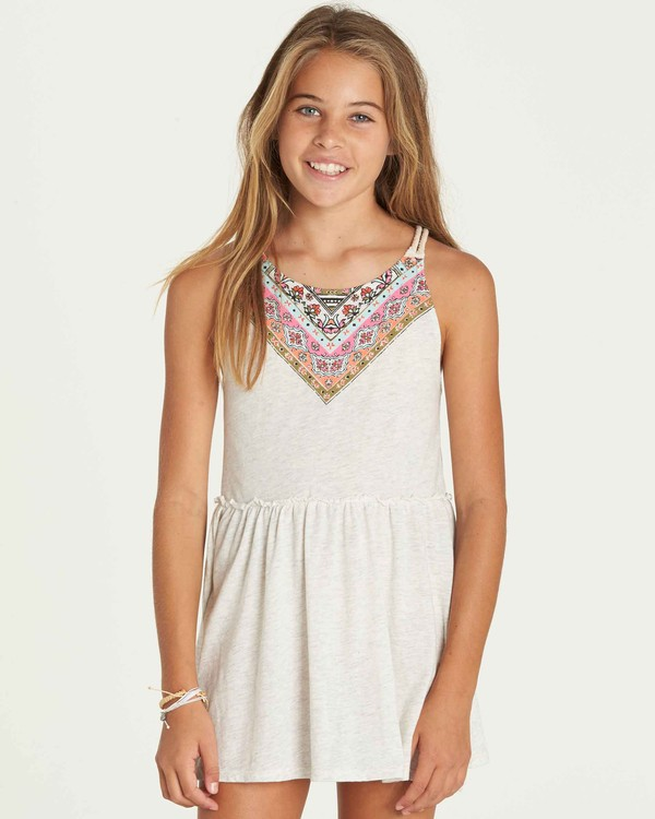 0 Girls' Soul Wax Dress Grey GD06PBSO Billabong