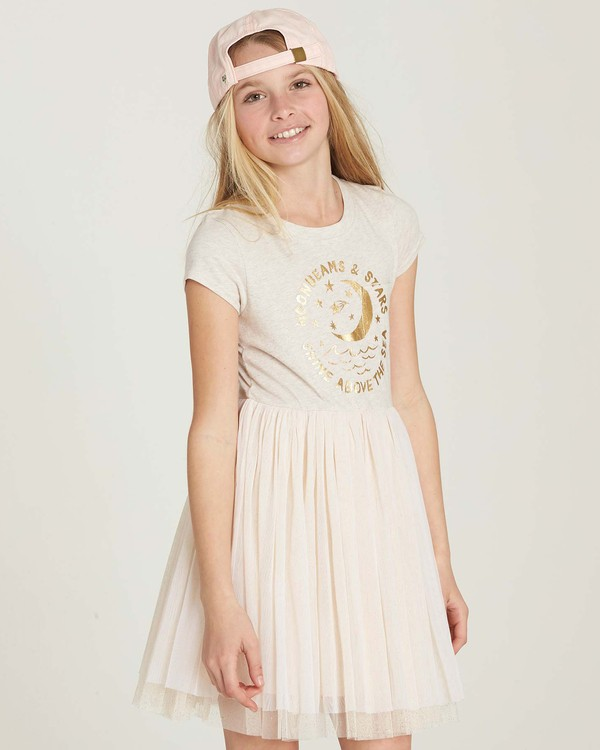 0 Girls' Sunkissed Nights Dress White GD09MSUN Billabong