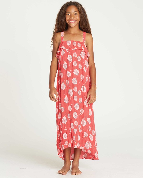 0 Girls' Monterey Bae Maxi Dress Red GD10TBMO Billabong
