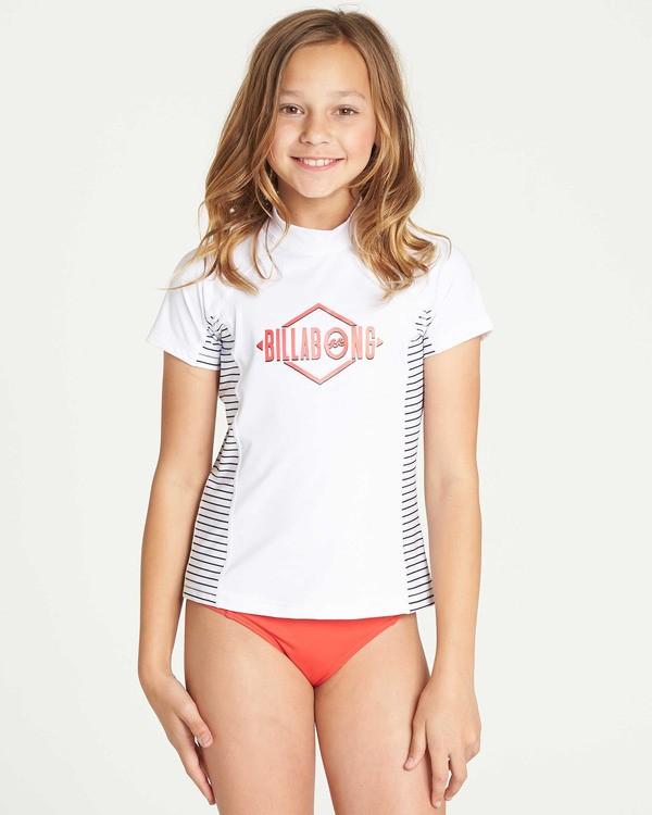 0 Girls' Surf Dayz Performance Short Sleeve Rashguard White GR03TBSD Billabong