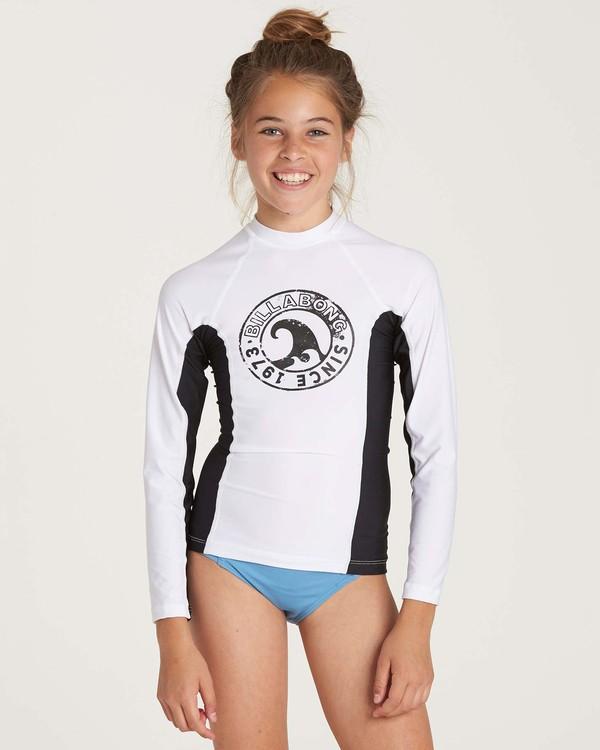 0 Girls' Surf Dayz Performance Long Sleeve Rashguard White GR52NBSD Billabong