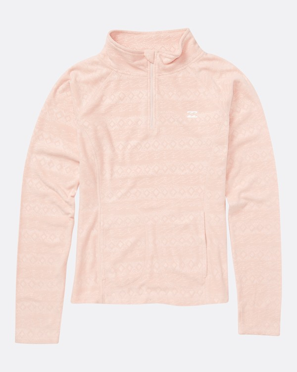 0 Girls' Morning Call Half Zip Polar Fleece Pink GSN6QMOR Billabong