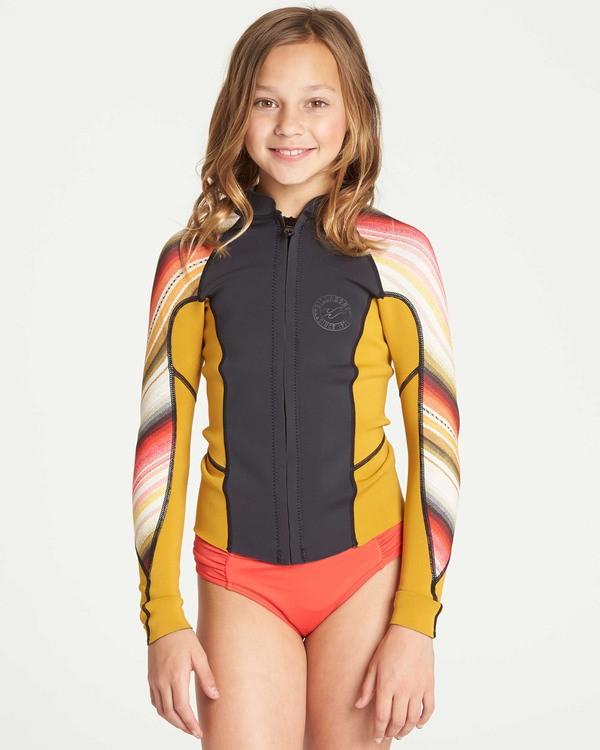 0 Girls' Peeky Wetsuit Jacket  GWSHTBSL Billabong
