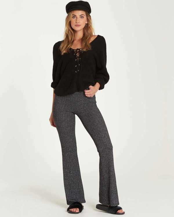 0 Only Dreamin Flare Pant Grey J309QBON Billabong
