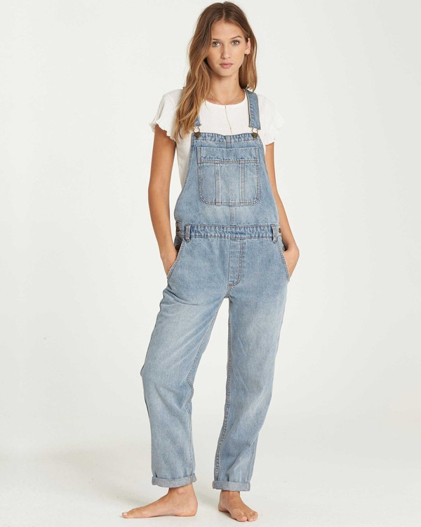 0 All Over Denim Overalls Blue J339QBAL Billabong