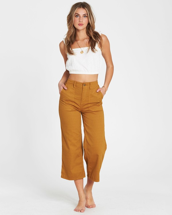 0 Lowtide Wide-Leg Pant Yellow J341QBLO Billabong