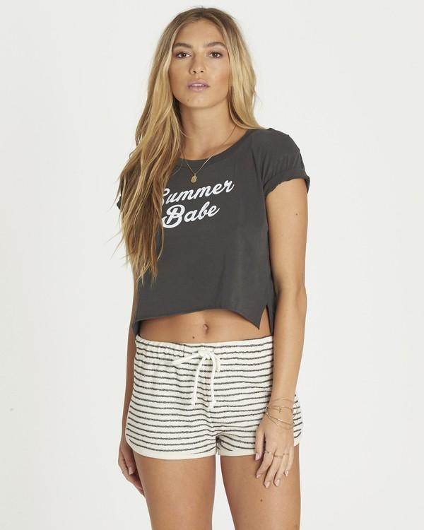 0 Summer Babe Crop Tee Black J436PBSU Billabong