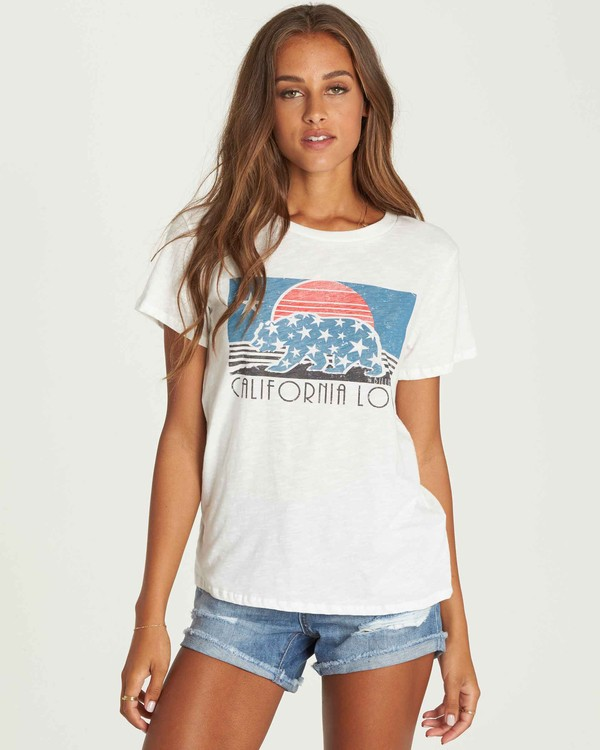 0 California Stars Tee Beige J437PBCA Billabong
