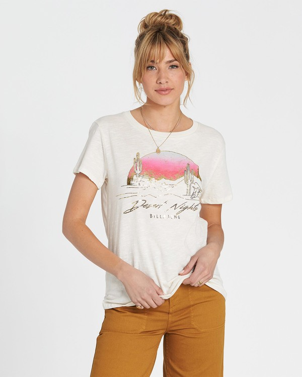 0 Desert Nights Tee White J437SBDE Billabong