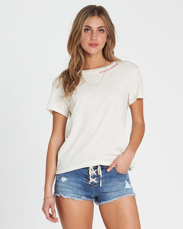 0 Dream With Me Tee White J437SBDR Billabong