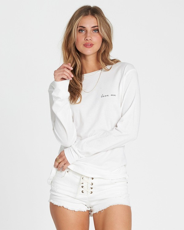 0 Love Me Long Sleeve Tee White J446SBLO Billabong