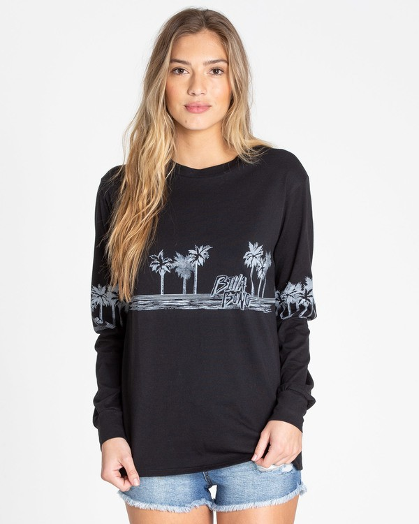 0 Coast To Coast Long Sleeve Tee Black J446TBCO Billabong