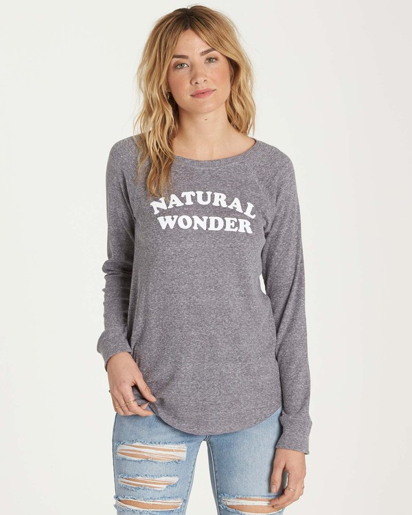 0 Natural Wonder Long Sleeve Tee Grey J447MNAT Billabong