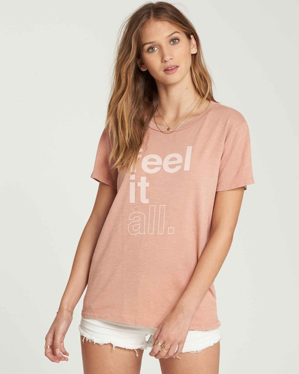 0 Feel It All Tee Beige J467QBFE Billabong