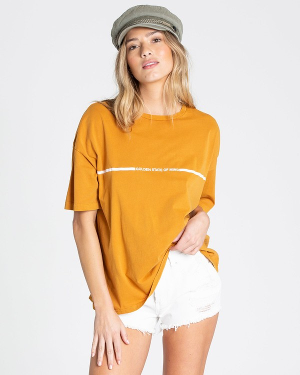 0 Golden Hour Tee Yellow J499TBGO Billabong