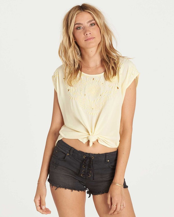0 Cut It Out Top Yellow J510KCUT Billabong