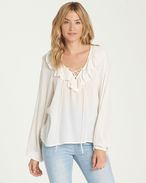 0 Jeweled Night Top Beige J530NBJE Billabong