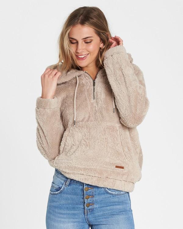 0 Cozy For Keeps Fleece Hoodie Brown J604QBCO Billabong
