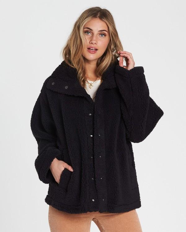 0 Cozy Days Sherpa Jacket Black J604SBCO Billabong