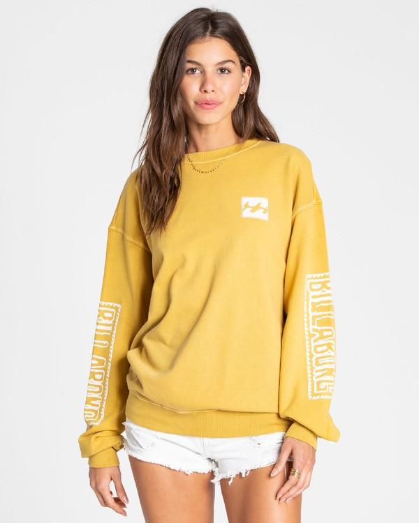 0 White Wash Sweatshirt Yellow J612TBWH Billabong