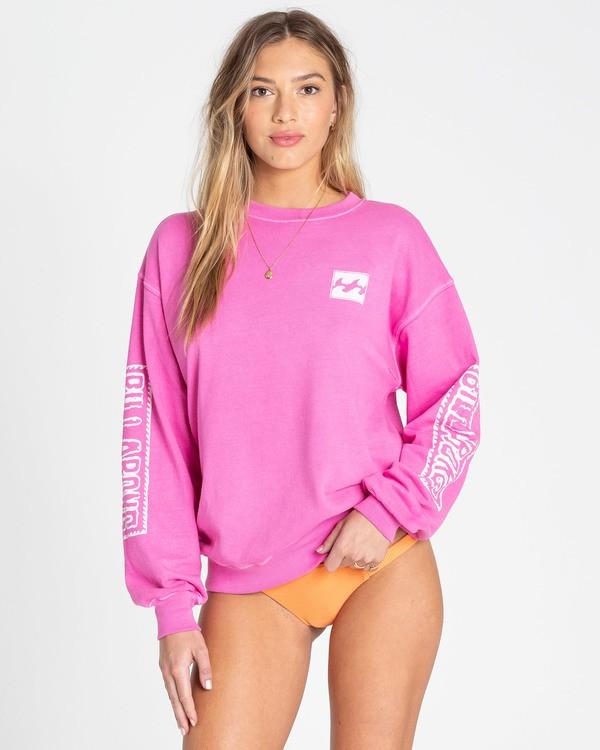 0 White Wash Sweatshirt Pink J612TBWH Billabong