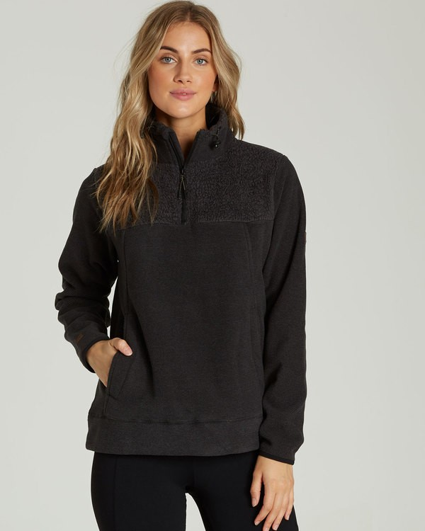 0 A/DIV Boundary Half-Zip Pullover Fleece Black J624SBBO Billabong