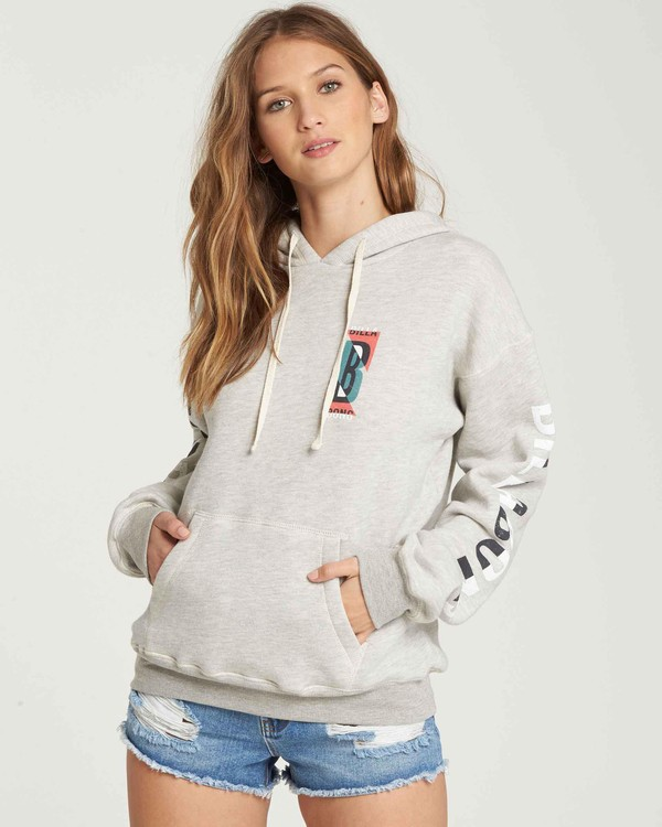 0 Retro Logo Fleece Hoodie  J651QBRE Billabong