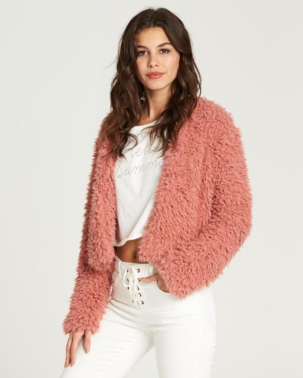 0 Fur Keeps Jacket Red J706MFUR Billabong