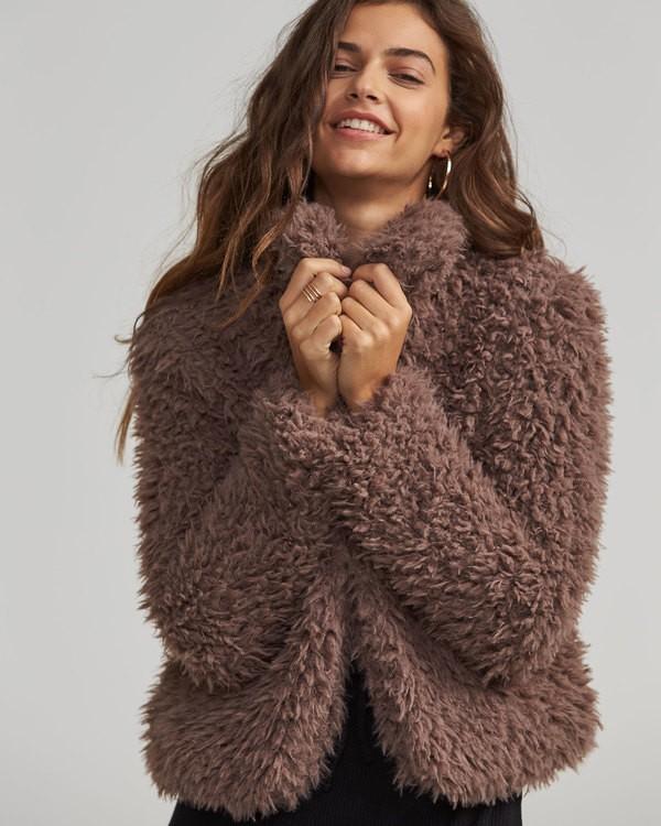 0 Fur Keeps Jacket Beige J706SBFU Billabong