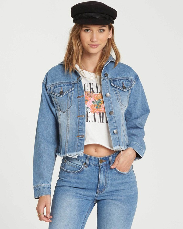 0 Good Day Denim Jacket Blue J707QBGO Billabong