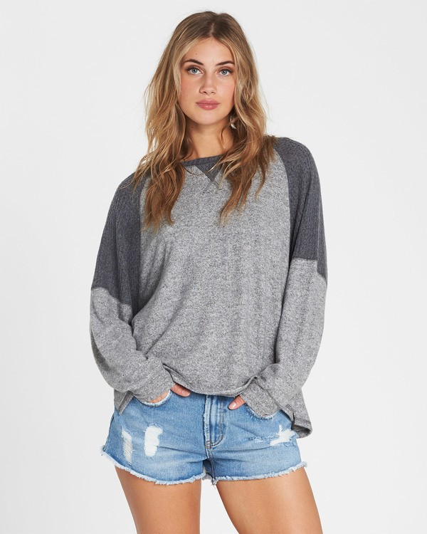 0 Head Start Long Sleeve Top Grey J917SBHE Billabong