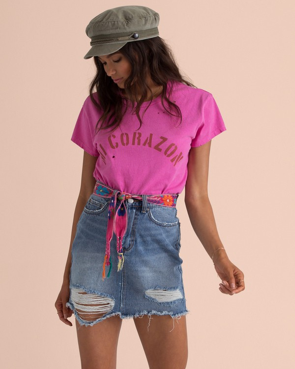 0 Sincerely Jules Perfect Boy Tee Pink J918TBPE Billabong