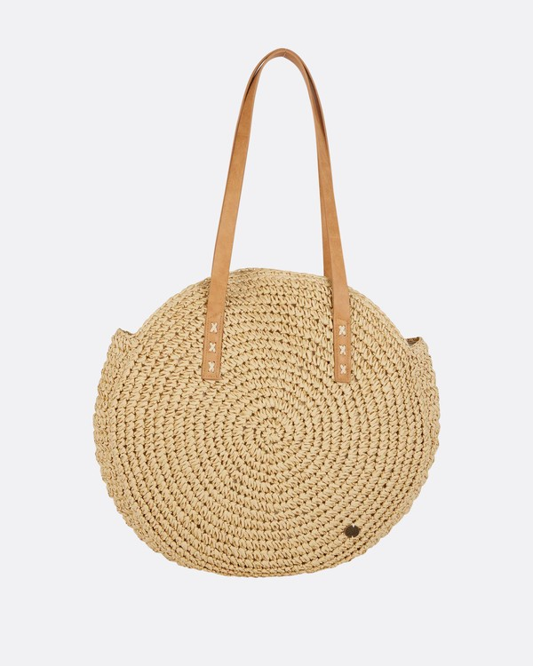 0 Round About Straw Tote Bag  JABGPBRO Billabong