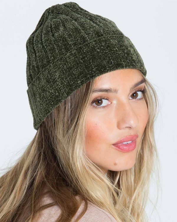 0 Warm Up Chenille Beanie Green JABNQBWA Billabong