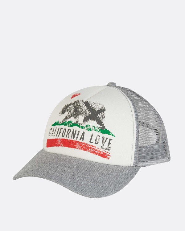 0 Pitstop Trucker Hat Grey JAHT7PIT Billabong