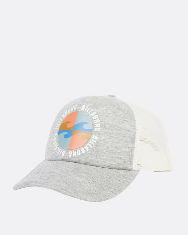 0 Across Waves Trucker Hat Grey JAHWQBAC Billabong
