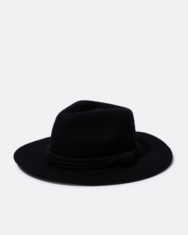 0 Roped In Felt Hat Black JAHWSBRO Billabong